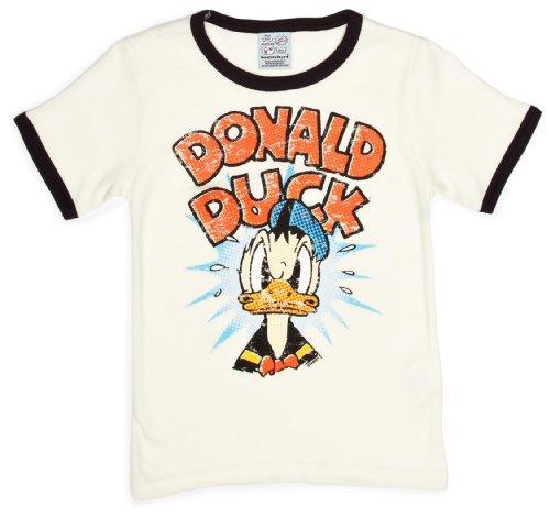 Logoshirt Jungen, T-Shirt, Disney Donald Duck, Mehrfarbig (almost White/deep Navy), 3 ()