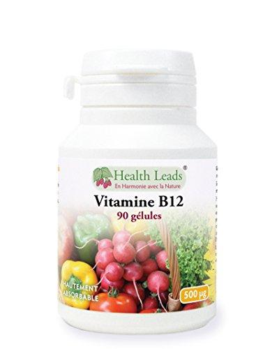 Vitamine B12 500µg 90 gélules