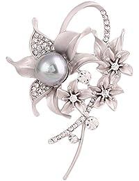 La Vogue Broche Épingle Nourrice Perle Cristal Artificiel Strass Fantaisie Bijou