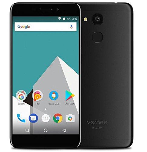 Vernee M5-5,2 Zoll HD IPS Display Android 7.0 4G Smartphone, Octa Core 1.5GHz 4GB RAM 64GB ROM, 6.9mm Ultra schlanke und leichte Metall Textur, 8MP + 13MP Kamera, Schwarz ...