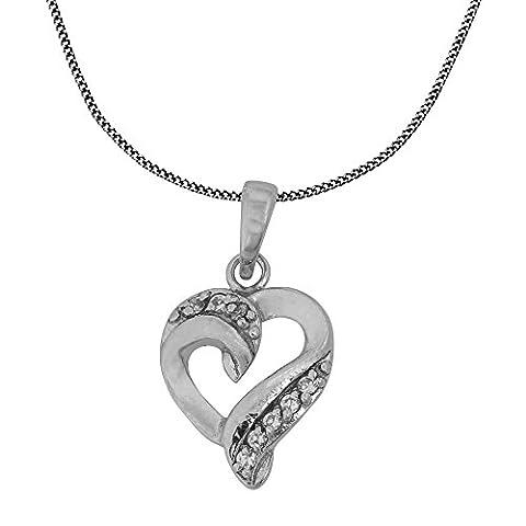 Romantische Herz-Anhänger Und Kette Halskette Indischen Schmuck 925 Silber micro Pave