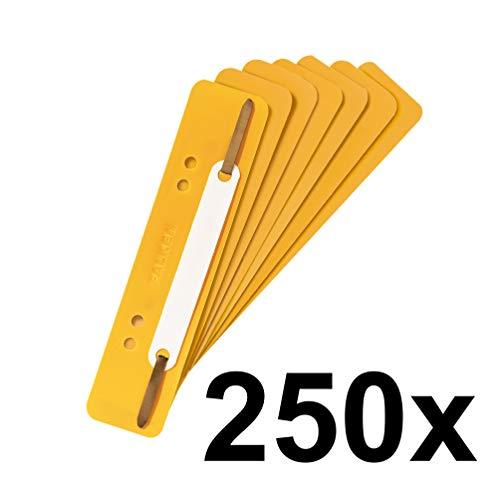 Falken 250er Pack Plastik-Heftstreifen. Das Original. Gelb aus PP-Folie kaufmännische Heftung Aktendulli Hefter Schnellhefter ideal für Büro und Schule