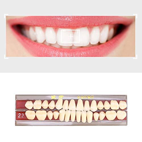 KAIMENG 1 Box Porzellan Zahn Zahnprothese Zähne Reparatur Set Arzt Dental mündliches Material (Second Grade 22)