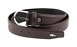 Lacoste Curved Stitched Edges Belt W95 Brown