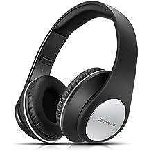 Auriculares Bluetooth Inalámbricos, Jpodream Auriculares Plegables 4 en 1 con Funciones de Entrada 3.5mm, Sonido Hi-Fi Estéreo Cascos Bluetooth con Orejeras Suave para iPhone Android BQ PC TV - Negro