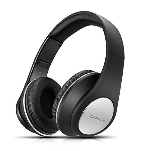 Cascos Bluetooth Inalámbricos, Auriculares Bluetooth Diadema con Micrófono Manos Libres, Plegable Hi-Fi Estéreo con 3.5mm Audio Jack para TV, PC, Tablet, Móvil by Jpodream - Negro