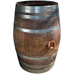 Regentonne, Regenfass, Holzfass, Weinfass, Fass, Tonne Bottich Barrique aus Eiche 225 Liter