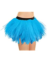 Crazy Chick Adult Women's 6 Layer Turquoise Petal Tutu Skirts Hen Night Party Fancy Dress Accessory