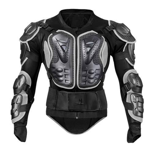 Ger-Gisntips Motorrad Rüstung Set Männer Brust Rückenschutz Po Hüftstütze Motocross Racing Joint PE Shell Eva Körperschutz Anzüge BC202B XXXL - Bereich Kapuze Shell