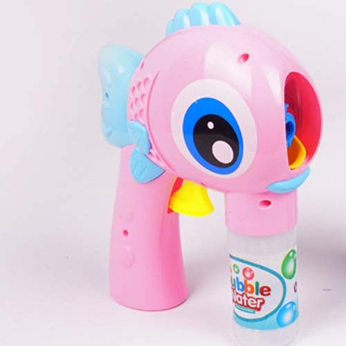 Zpzzy Big Eye Fisch Bubble Gun Trägheit Manuelle Big Bubble Machine Automatische Wasser Kinder Blasen Bubble Toy Blasen Bubble Water ( Color : Pink ) (Bubble Gun Fisch)