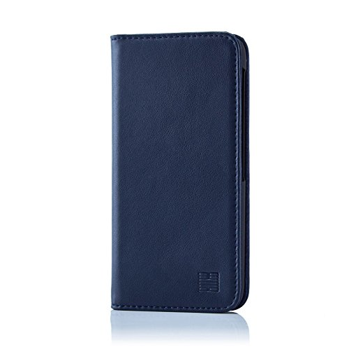 32nd Klassische Series - Lederhülle Case Cover für BlackBerry DTEK60, Echtleder Hülle Entwurf gemacht Mit Kartensteckplatz, Magnetisch & Standfuß - Marineblau
