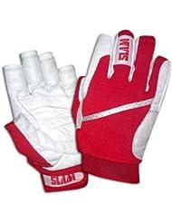 Slam Guanto Vela - Guantes para deportes náuticos (unisex), color blanco y rojo rojo rojo Talla:large