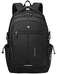 Aoking 15.6 Polyester 28 LTR Laptop Backpack School Bag College Bag Backpack (Black)