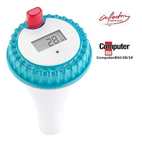 infactory Zubehör zu Teichthermometer: Wassertemperatur-Sensor für PT-300 (Badewannenthermometer)