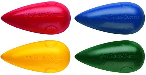 Blíster con 4 ceras plásticas en forma de pera, no manchan, colores surtidos