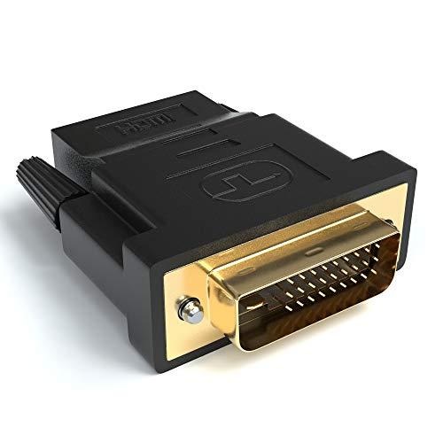 JAMEGA - HDMI auf DVI Adapter | HDMI A Buchse auf DVI Stecker | 4K Ultra HD Full HD 1080P HDTV Konverter | Kontakte vergoldet - Dvi-buchse