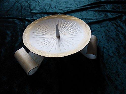 1 Kerzenhalter weiß gold Kerzenständer Taufkerzenständer Kommunionskerze Weihnachtskerze