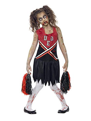 Smiffys Kinder Zombie Cheerleader Kostüm, Kleid und Pompoms, -