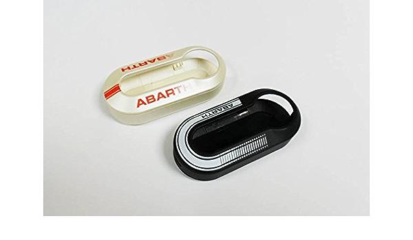 Fiat Abarth Genuine Oe 5741883 Schlüsselhülle Schwarz Weiß Rot Auto