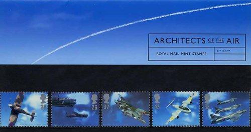1997 Architekten des Air Geschenkbox Nr. 277-Royal Mail Briefmarken