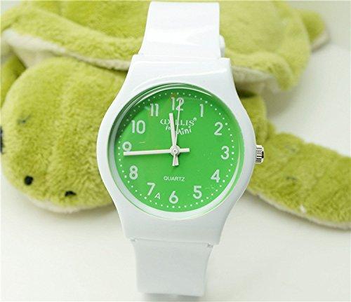 Tocoss(TM) wasserdicht Gelee Design-analoge Armbanduhr Kinder Uhr / Kind-Quarz-Armbanduhr-freies Verschiffen [15]
