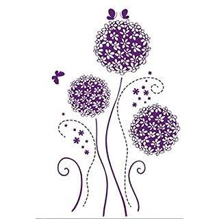 Wandtattoo Pusteblume Lila Schmetterling Löwenzahn Wohnzimmer Wandaufkleber  Wandsticker Wanddekoration Schlafzimmer Kinderzimmer Pflanzen Wiese Blumen