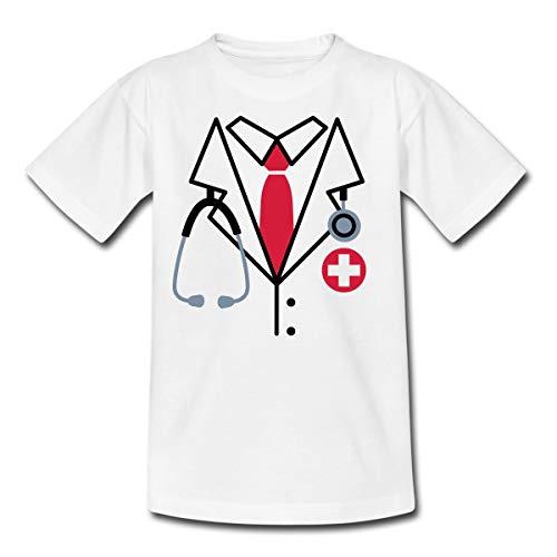 Tshirt Kostüm Arzt - Spreadshirt Arzt Kostüm Kinder T-Shirt, 98/104 (3-4 Jahre), Weiß