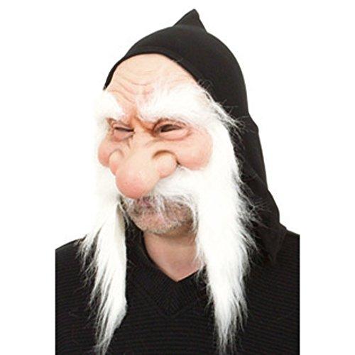 Latex Zwergen Maske Zwergenmaske Faschingsmaske Gummimaske Zwerg Gnom Wichtel