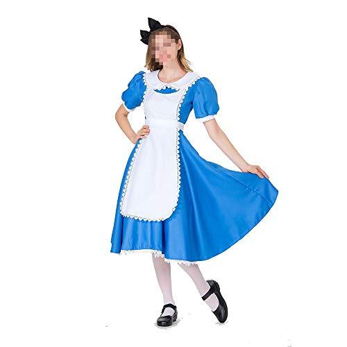 Kostüm Im Geist Halloween Alice Wunderland - kMOoz Halloween Kostüm,Outfit Für Halloween Fasching Karneval Halloween Cosplay Horror Kostüm,Halloween Alice Im Wunderland Maid Kostüm Cosplay Bühnenkostüm