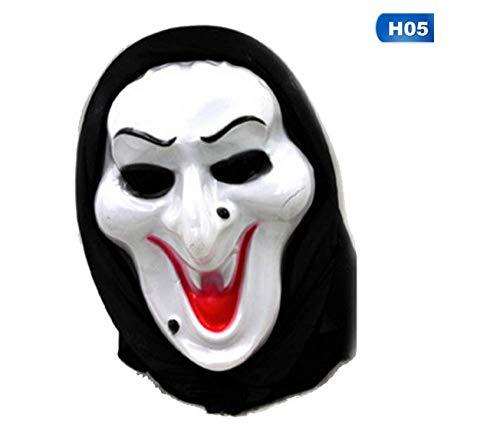 JIAENY Halloween-Maske,Halloween-Maske Mask Death Final Scream Skull Ghost Masken Fake Face Multi-Form Scary Halloween Cosplay Maskerade - Scream Face Kostüm