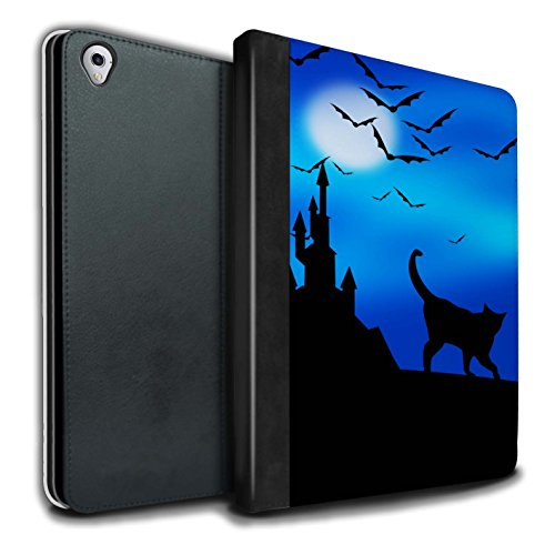 �lle/Case/Brieftasche für Apple iPad Pro 9.7 Tablet/Gruselige Schloss Muster/Halloween Szene Kollektion ()