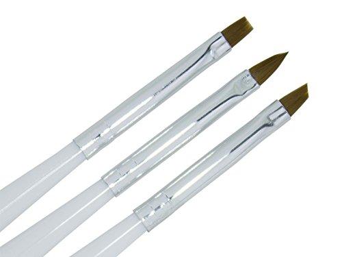 3-teilig Premium PINSEL-SET zebra Nageldesign - nd24 BESTSELLER - Feinhaar Brush Set - Gel-Pinsel Nailart-Pinsel French-Pinsel UV Nagel-Gel Modellage Nageldesign Naildesign