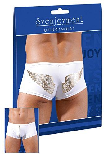 Svenjoyment Herren Pants Boxer-Shorts Engel weiß-gold L (Engel Boxer)