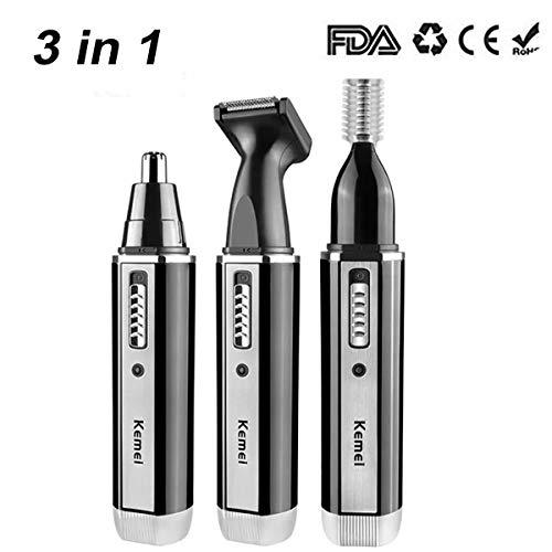 Naso Taglia peli Ricaricabile 3 in 1 Naso Ear Hair Trimmer Outil de soins du visage Rasoir Naso e Orecchie (3 in 1)