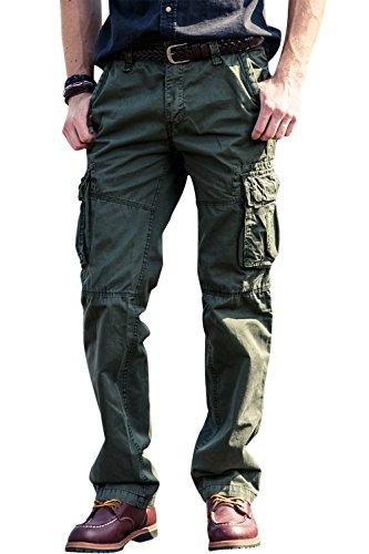 5e5094e94921 100% Baumwolle Casual Hosen für Herren Freizeithose Loose Fit Cargo Hosen  Arbeitshosen von INFLATIO.