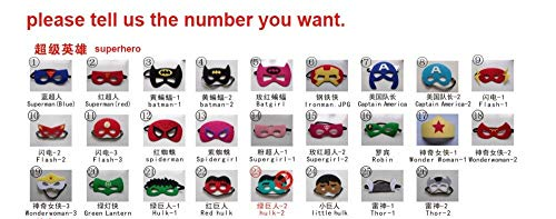 Cosplay Maske Kids Birthday Party Superhero Favor Favor Gifts Halloween Party Dress Up Kostümmaske pls wählen ()