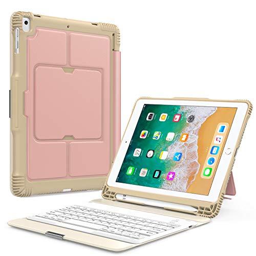 MoKo Keyboard Case for Apple iPad 9.7 Inch 2018/2017iPad5/iPad6