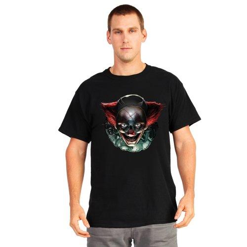 Digital Dudz DDTFCL - Ausgeflippt Clown Bewegend Augen Erwachsenen T-Shirt, L (Rocket Scientist Kostüm)