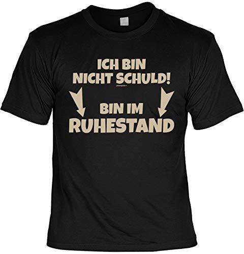 Lustige Rentner Sprüche Fun Tshirt - ICH Bin Nicht Schuld! Bin Im Ruhestand - Pensionär Shirt (Ruhestand Schulden)