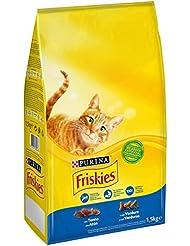 PURINA FRISKIES Gatto Crocchette Gatto Adult con Tonno e Verdure Aggiunte, 1.5 kg