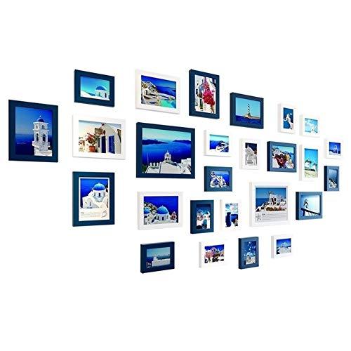 YOANE Wand Form Bild Fotorahmen, Heimtextilien Aufkleber, Wohnzimmer Schlafzimmer Wanddekoration, Sofa TV Hintergrund Spiegel Wandaufkleber, Mediterrane Malerei Kombination Schlafzimmer Wandmalerei