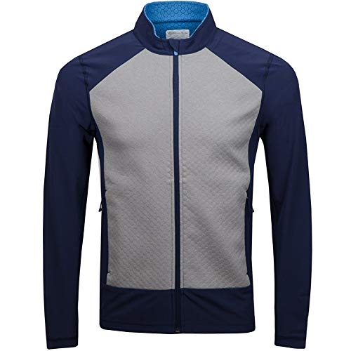 AFDLT Männer Golf Jersey,Badminton Sport T-Shirts Lange Ärmel,Sommer Tennis Wettbewerb Ausbildung Kleidung Polo Hemd Jacke,Gray,XXL