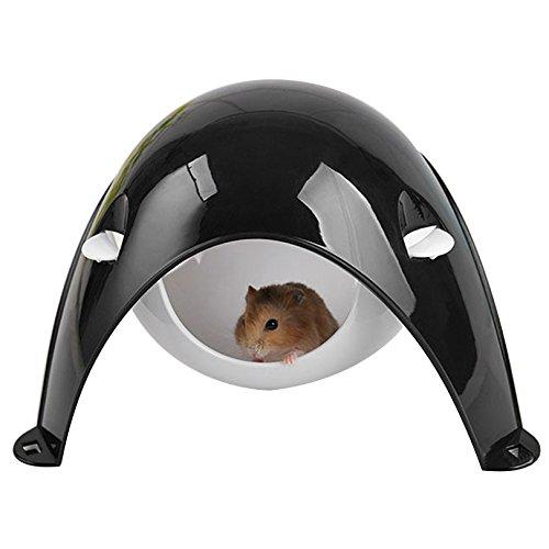 petacc Raum Kapsel Hamster Haus Abnehmbare Pet Nest Creative Hamsterkäfig tragbar Ratten Versteck für kleinen Tiere, schwarz (Tragbare Kleine Tier Käfig)