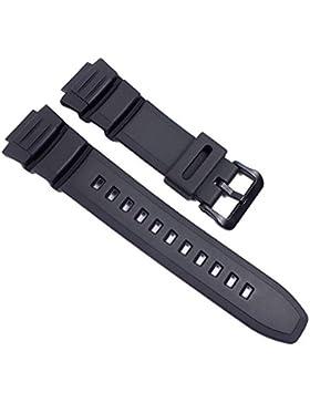 Casio Ersatzband Uhrenarmband Resin Band schwarz für W-S220 HDD-S100