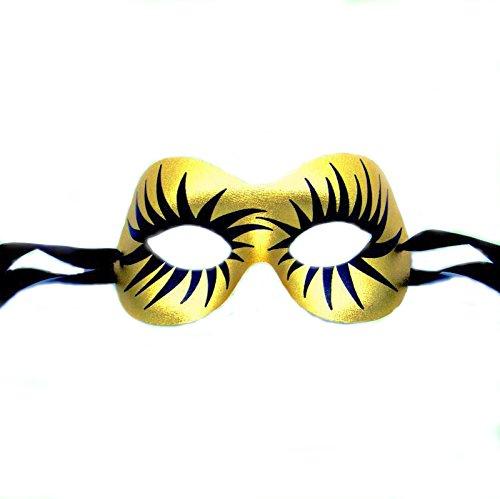 Gold Uhrwerk Orange Venezianische faschingsmasken Maskerade Maskenball Maske - hohe Qualität aus italienischer (Italienische Masken Maskerade)