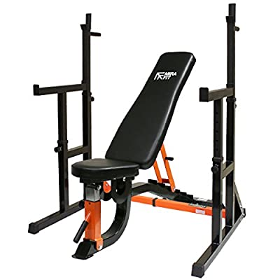 Mirafit Semi Commercial Weight Bench & Squat Rack Set Up by Mirafit