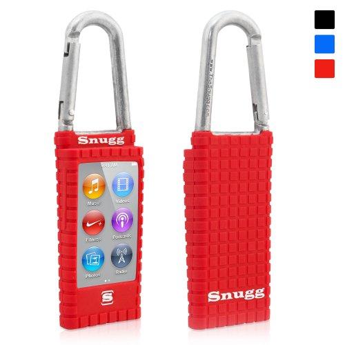 coque-ipod-nano-7-snuggtm-etui-en-silicone-rouge-antiderapant-avec-mousqueton-et-garantie-a-vie-pour