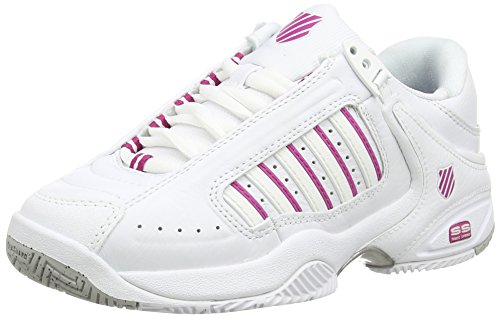 K-Swiss Defier Rs - Zapatillas de tenis Mujer, color blanco - white (white/veryberry 127), talla 38