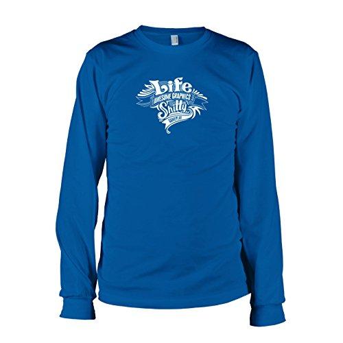 TEXLAB - Game of Life - Langarm T-Shirt Marine
