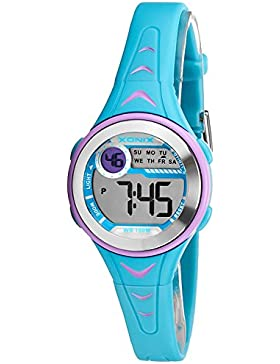 Bunte digitale XONIX Armbanduhr für Damen und Kinder WR100m nickelfrei, XDU53K/2